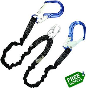 Afp 6ft Double Leg Internal Shock Absorbing Safety Fall Protection Lanyard With