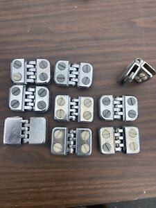 9 Lot Hinged Cal tuf 1980 Connectors For 3 16 Glass Safety Pane Cube Display