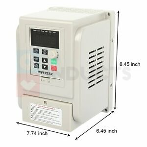 Vfd 2hp 220v 1 5kw Single To 3 Phase Speed Controller Variable Frequency Drive