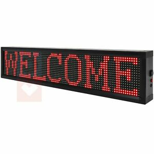 Bright Led Sign Business Stores 40x8 Wifi Programmable Scrolling Neon Light