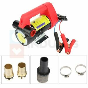 Electric Portable Transfer Pump Dc 12v Extractor Suction Oil Fluid Car Motorbike