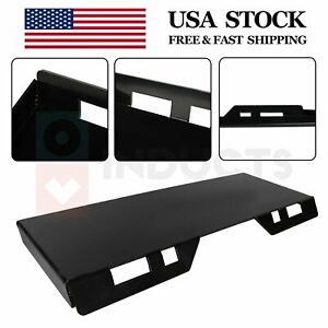 5 16 Inch Skid Steer Mount Plate Thick Steel Bucket Quick Tach Attachment