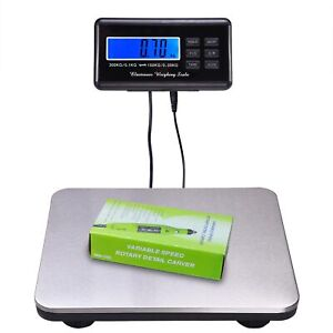 660lb Lcd Digital Platform Scales Floor Postal Shop Commercial Scale Weight Usa