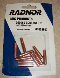 Radnor 000069 Contact Tip 045 Miller Style Pk10