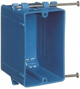 1 gang 20 Cu In New Work Pvc Electrical Outlet Box B120a upc case Of 100