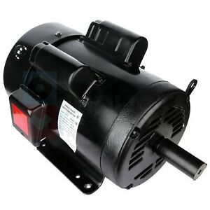 7 5 Hp Air Compressor Electric Motor Single Phase 4pole 1750 Rpm 215t Frame Odtf