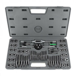 Standard Sae Tap And Die Set 60 Piece W Case Threading Chasing Repair New Us