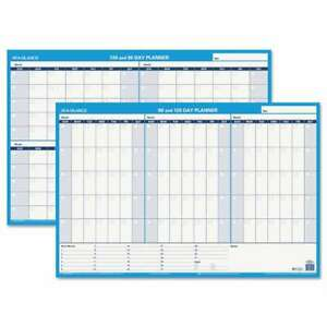 At a glance 90 120 day Undated Horizontal Erasable Wall Planner 038576553934