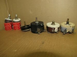 Lot Of 6x Vintage Mixed Value Rheostats Potentiometers 2 2500 5000 20000