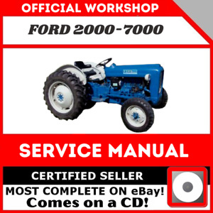 Ford 2000 3000 4000 5000 7000 3400 5550 Tractor Service Manual 1965 1975 In Cd