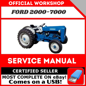 Ford 2000 3000 4000 5000 7000 3400 5550 Tractor Service Manual 1965 1975 In Usb