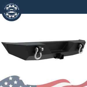 Rock Crawler Rear Bumper For 2018 2019 2020 2021 Jeep Wrangler Jl With 2 D Rings