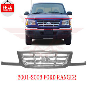 Front Gril Grille Assembly Chrome Insert For 2001 2003 Ford Ranger 4wd Fo1200394
