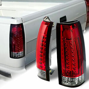 Red Pair Tail Lights Lamp Taillight For 88 98 Chevy Gmc C K 1500 2500 Suburban