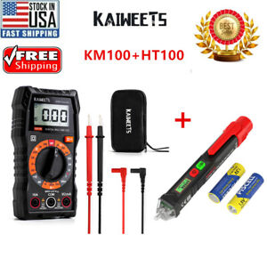 Kaiweets Digital Multimeter With Case Dc Ac Voltmeter Km100 Electrical Pen