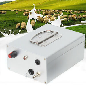 Pulsation Electric Milking Machine Vacuum Pump W adapter Plug For Goats Cows Usa