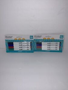Lot Of 2 Pen Gear Fine Point Dry Erase Markers Low Odor 4 Count Multicolor