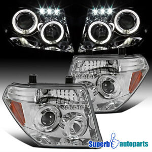 For 2005 2008 Nissan Pathfinder Frontier Halo Projector Headlights Led Bar