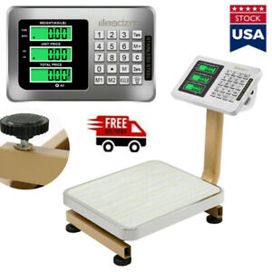 80kg 176lbs Weight Computer Scale Digital Floor Platform Shipping Postal Mailing