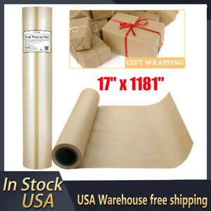 17 X 1181 Wrapping Packing Paper Brown Kraft Paper Roll For Craft Shipping Us