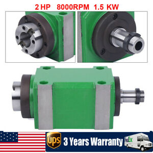 Bt30 Taper Spindle Unit 7 24 Mechanical Power Head drawbar For Drilling Milling
