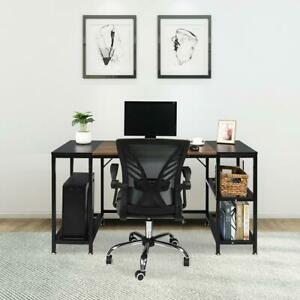 Large Computer Desk 59 Inch Home Office Study Writing Desk Office Gmaing Table