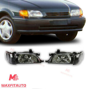 For Toyota Tercel 1995 1996 1997 1998 1999 Headlights Black Factory Style Pair