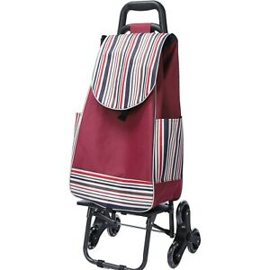 6 wheels Climbing Stairs Trolley Hand Truck Foldable Steel Load Cart