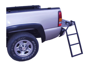Truck Tailgate Ladder Bed Step Pickup Folding Ford Dodge Tundra Chevy Black