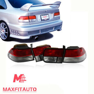 Fit Honda Civic1996 1998 Coupe 2dr Red Smoke Tail Lights Brake Lamps Left Right
