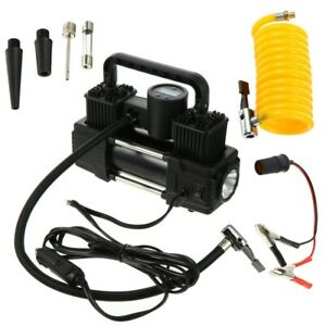 New Listingus Dual Cylinder Air Compressor Pump Auto Tire Inflator For Car Truck Rv Bicycle