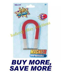 Toysmith 4 Metal Horseshoe Magnet For Educational School Science Experiements