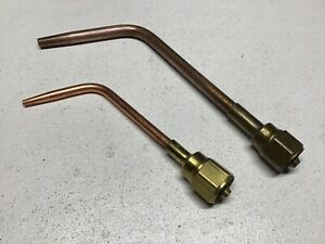 Lot Of 2 Vintage Victor Type 2 w 5 t4 Welding Brazing Tips