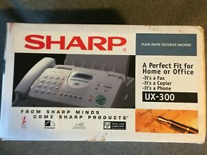 Sharp Plain Paper Fax ux 300 99 page Multicopy new from 1999 factory sealed