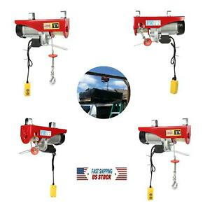 Electric Cable Winch Lifting Hoist W 18meter Steel Wire Rope 500kg 1000kg 1800w