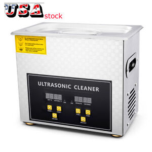 3l Professional Digital Ultrasonic Cleaner With Timer Heated Cleaning Machine Us