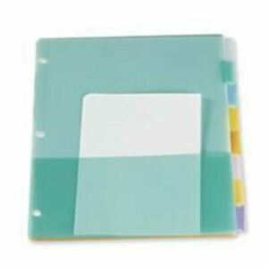 Esselte Poly Divider Page With Pockets Oxf31681