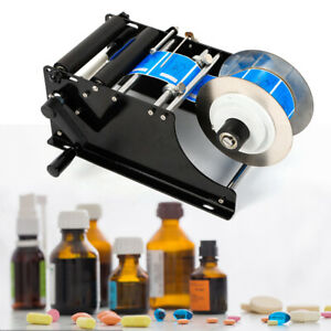Mt 30 Manual Label Applicator Plastic Labeling Machine Round Glass Bottle Cans