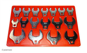 Crowfoot Wrench Set Large Metric Sizes Mm Hand Tools 17 Pc Automotive