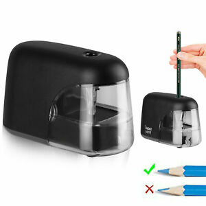 Electric Pencil Sharpener Automatic Battery Operated Office School Classroom Cvb