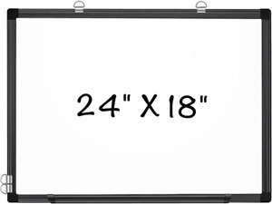 Maxtek Magnetic Whiteboard 24 X 18 Inches Hanging Dry Erase Board Wall Mounted