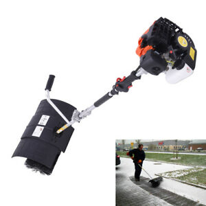 2 Stroke 52cc Gas Power Sweeper For Cleaning Snow Driveway Grass Lawn Garden Usa