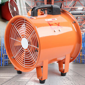 12 Extractor Axial Fan Blower Portable Explosion Proof Rated Ventilator 2800rpm