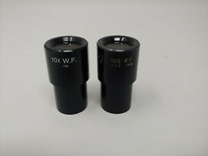 Pair Of American Optical Ao Cat 176 10x W f Microscope Eyepieces