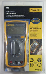 Fluke 115 Professional Multimeter Electricians Ac dc Wiring Testing Tool New