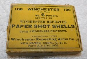 Two Antique Winchester Shot Shell Primer Boxes EMPTY $20.00