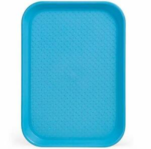 Fast Food Cafeteria Tray 10 X 14 Rectangular Textured Plastic Food Serving