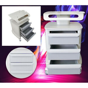 3 Layers Mobile Abs Trolley Storage Cart For Ultrasound Imaging Scanner Beauty