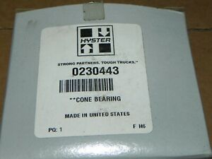Hyster New Fork Lift Part Cone Bearing 0240443 Bower Bearing 399as