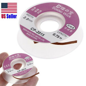 Desoldering Braid Solder Remover Wick 5 Ft 2 0mm New Cp 2015 Usa 400 168